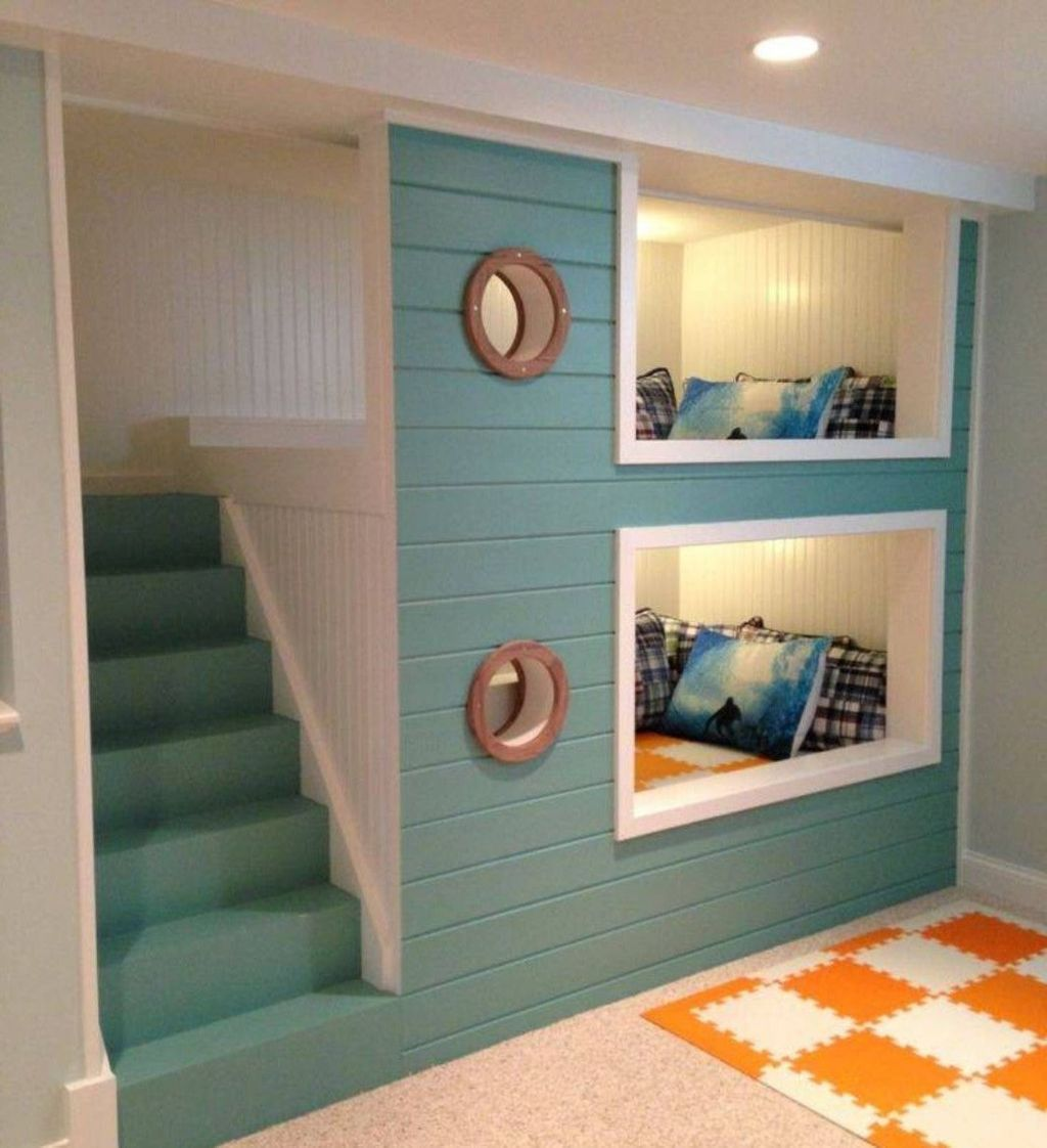 Cool bunk beds design ideas for boys that wonderful as solution for making the most out of a shared space Part 23