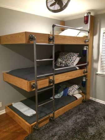 Cool bunk beds design ideas for boys that wonderful as solution for making the most out of a shared space Part 9