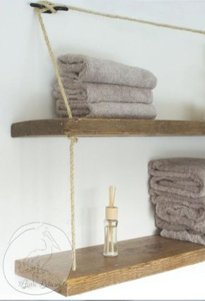DIY bathroom shelves from wood pallets that improve bathroom looks Part 4