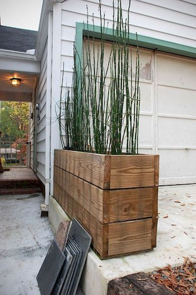 DIY planter boxes made from reclaimed woods and pallets excellent for outdoor and indoor decoration Part 9