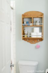 Effective bathroom organization with easy open shelving ideas Part 2