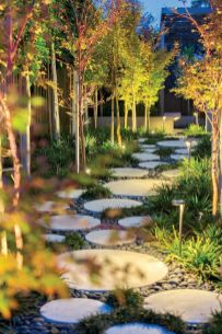 Exotic traditional style of graveled garden walkways that add more natural vibes in your garden designs Part 20