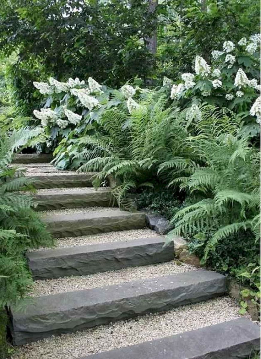 Exotic traditional style of graveled garden walkways that add more natural vibes in your garden designs Part 30