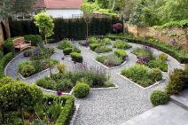 Graveled garden walkways that give more exotic natural finishing in your garden designs Part 1
