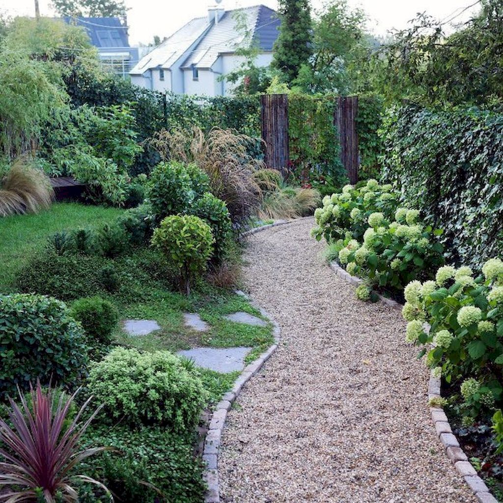 Graveled garden walkways that give more exotic natural finishing in your garden designs Part 14