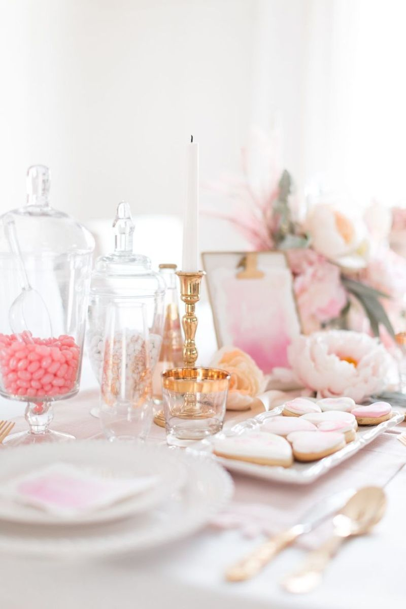 Lovely Table Decoration for Valentine Wedding Theme Part 14