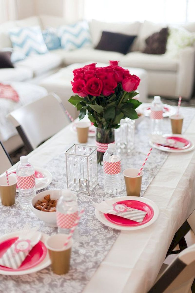 Lovely Table Decoration for Valentine Wedding Theme Part 16