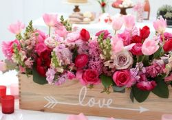 Lovely Table Decoration for Valentine Wedding Theme Part 3