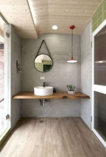 Modern bathroom designs with floating wood vanity and wallmounted bathroom cabinets Part 11