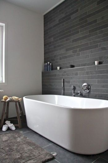 Modern white bathtub designs that improve your bathroom display Part 5