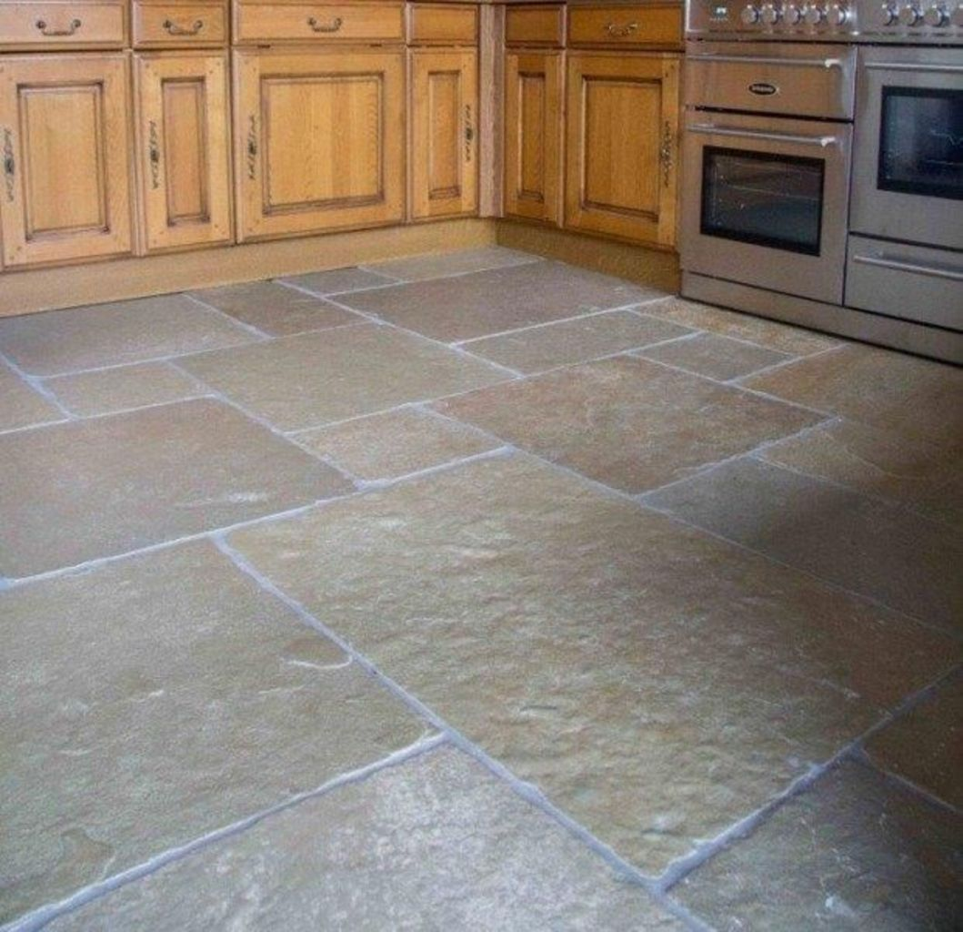 Natural Stone Floor Ideas that Looks Amazing in Traditional and Vintage Kitchen Styles Part 16