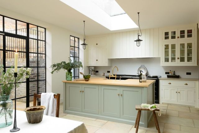 Natural Stone Floor Ideas that Looks Amazing in Traditional and Vintage Kitchen Styles Part 18