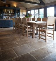 Natural Stone Floor Ideas that Looks Amazing in Traditional and Vintage Kitchen Styles Part 29