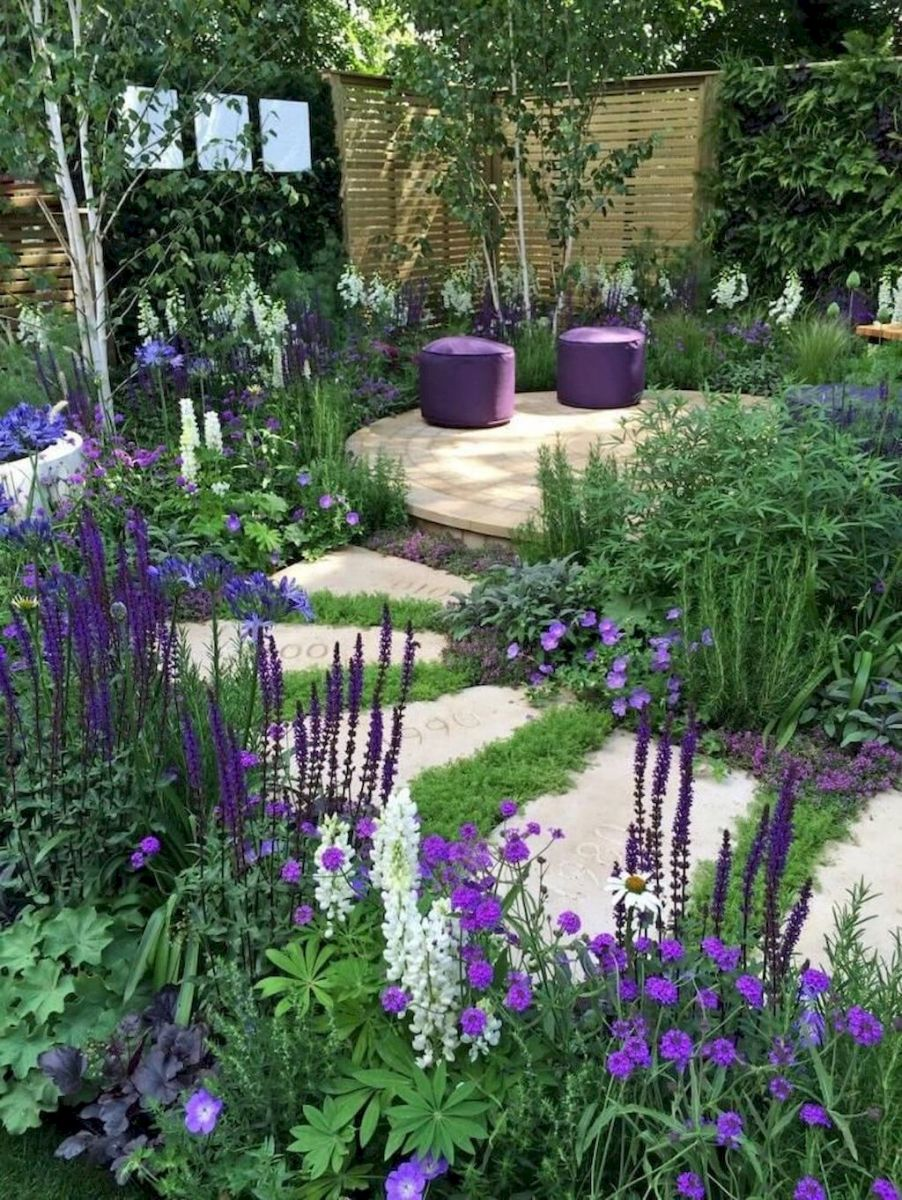 Natural garden walk ways from large stones and flagged stones Part 35
