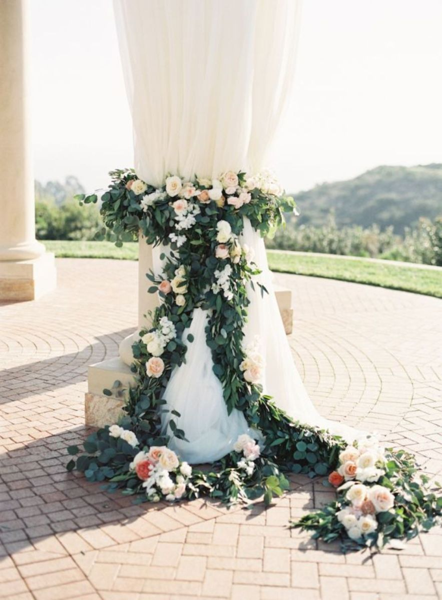 Romantic Spring Wedding Decor from Spring Garden Wedding Inspiration in Pretty Pastel Shades of Peach Blush and Green Part 17