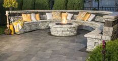 Round firepit design for outdoor living and gathering space ideas Part 7