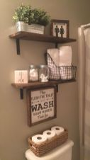 Simple bathroom shelves made from wood pallets Part 25