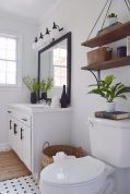 Simple bathroom shelves made from wood pallets Part 32