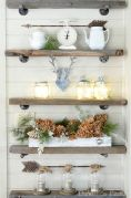 Simple bathroom shelves made from wood pallets Part 33