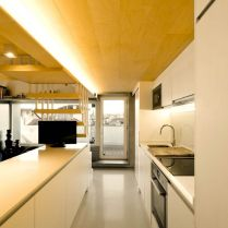 Amazing kitchen arrangement that simple and functional space from attic ronovation in Madrid MULTIPLYING ARCHITECTURES (III) Duplicated Renovation (1)