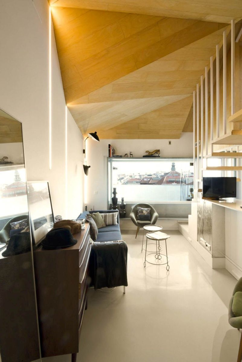 Amazing kitchen arrangement that simple and functional space from attic ronovation in Madrid MULTIPLYING ARCHITECTURES (III) Duplicated Renovation (5)