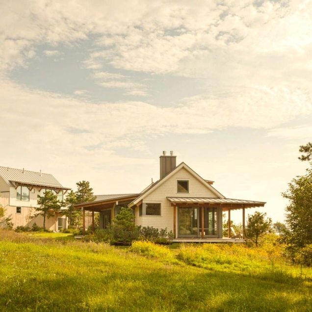 Seafront house Spurwink Retreat showing off old farm design with perfect natually layouted landscape completed in 2014 by Wright Ryan Homes (1)