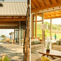 Seafront house Spurwink Retreat showing off old farm design with perfect natually layouted landscape completed in 2014 by Wright Ryan Homes (8)