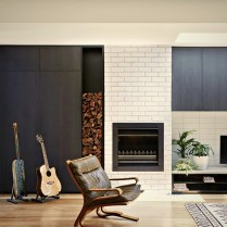 Modern interior designed in simple two tones color scheme Brunswick Rd House (1)