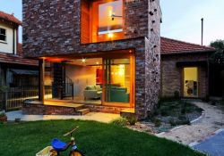 Ecofriendly house concept adapting aesthetic contemporary style showcasing brick outside wall in prominent cube design Ilma Grove (3)