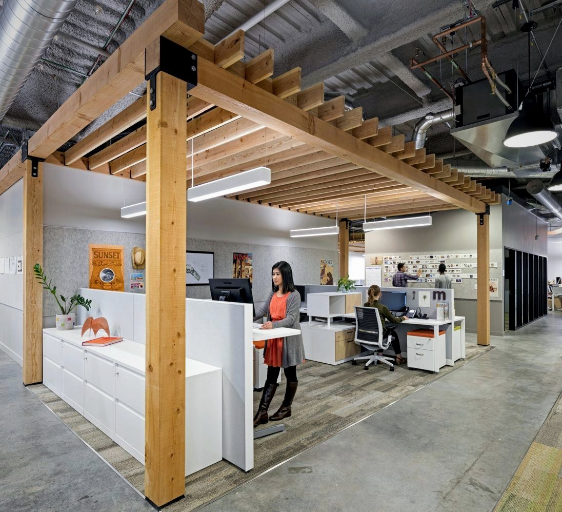 Special office design for Sunshine Magz with distinctive indoor characters designed in industrial and modern mix style (8)