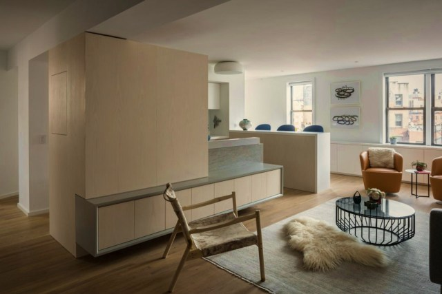 Successful apartment modernization on Bank Street showing off a balanced interior concept with a lively home ambiance (1)
