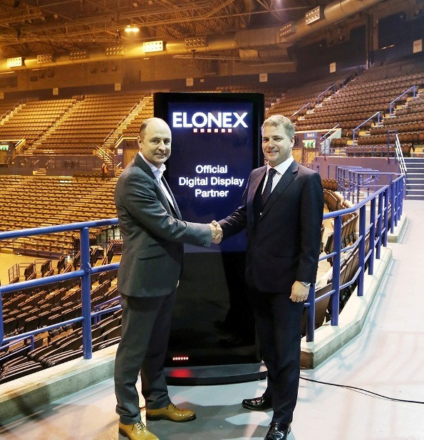 Managing Director of the Barclaycard Arena, Phil Mead, and Chief Executive of Elonex, Nick Smith
