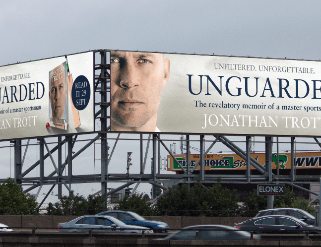 Unguarded Batsman Launches Autobiography with Big Hitting Outdoor Advertising Campaign