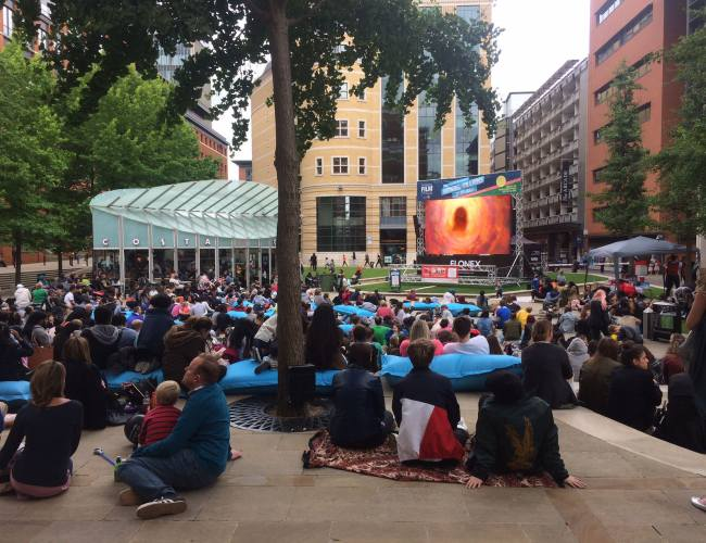 Brindleyplace Big Films on the Elonex Big Screen!