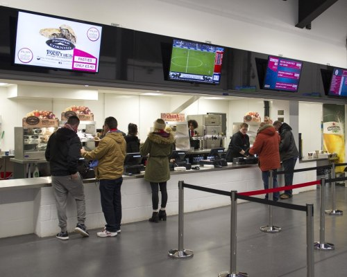 Food concession in the South Stand concourse at Ashton Gate - Mandatory by-line: Paul Knight/JMP - Mobile: 07966 386802 - 19/12/2015 -  FOOTBALL - Ashton Gate Stadium - Bristol, England -  Bristol City v Queens Park Rangers - Sky Bet Championship