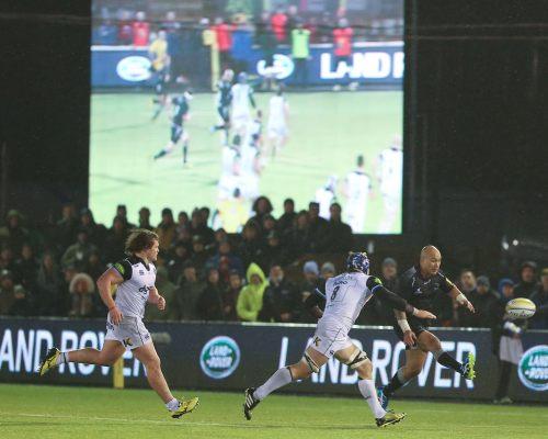 Newcastle Falcons v Bath at Kingston Park, Newcastle upon Tyne. Aviva Premiership Rugby, Saturday 2nd January 2016.