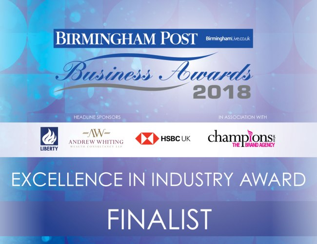 Elonex Finalists at the Birmingham Post Business Awards