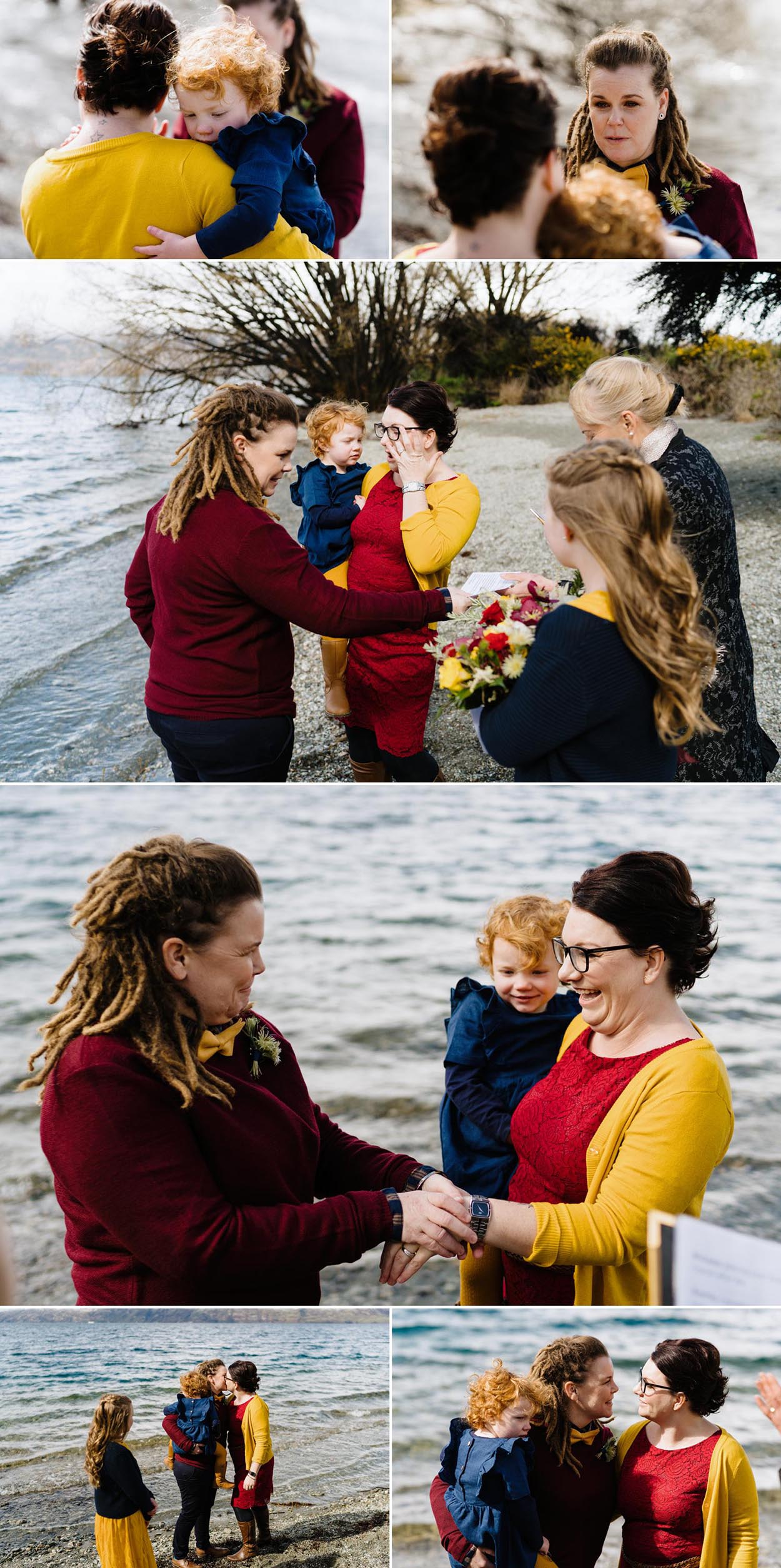 Winter same sex wedding