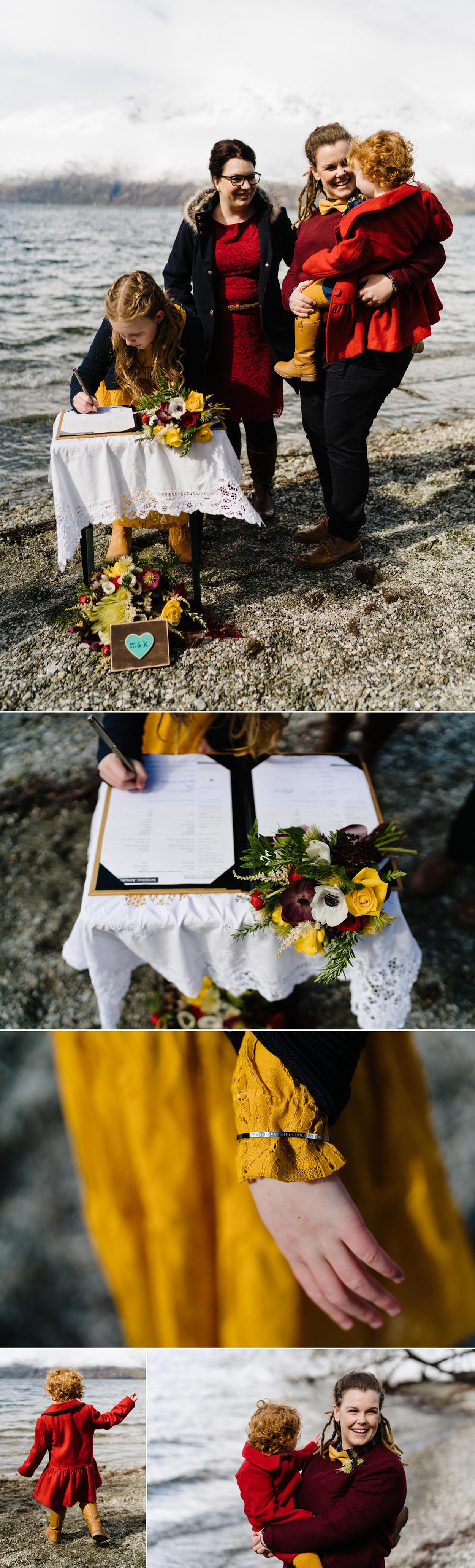 Queenstown lakeside elopement