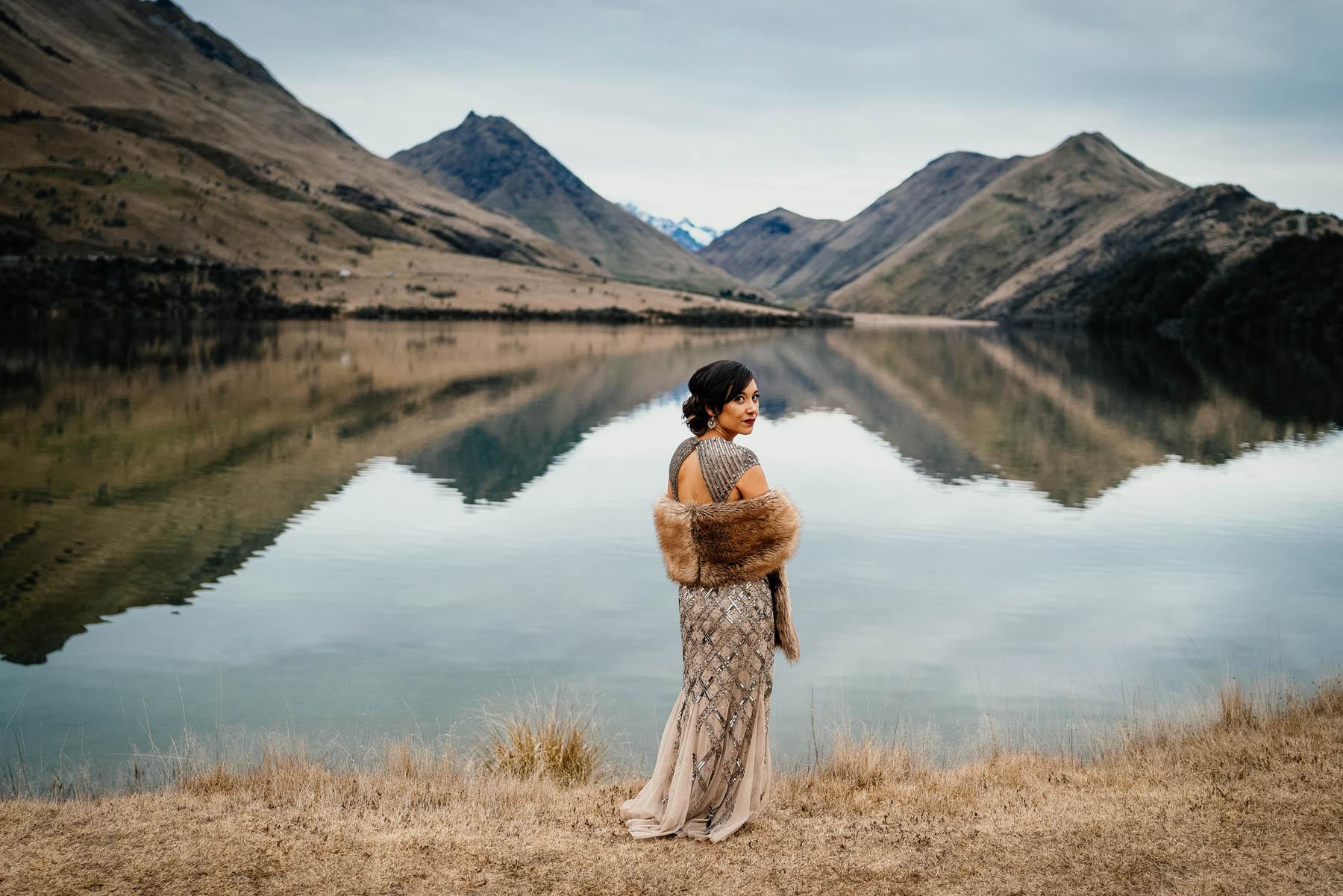 Moke Lake wedding photographer