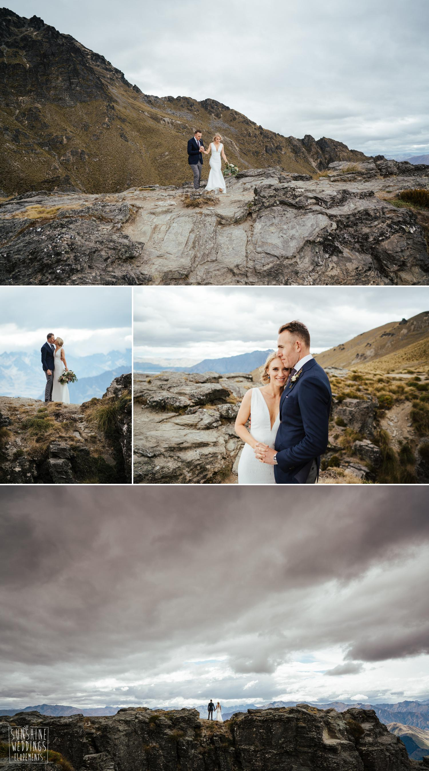 mountain elopement queenstown wedding