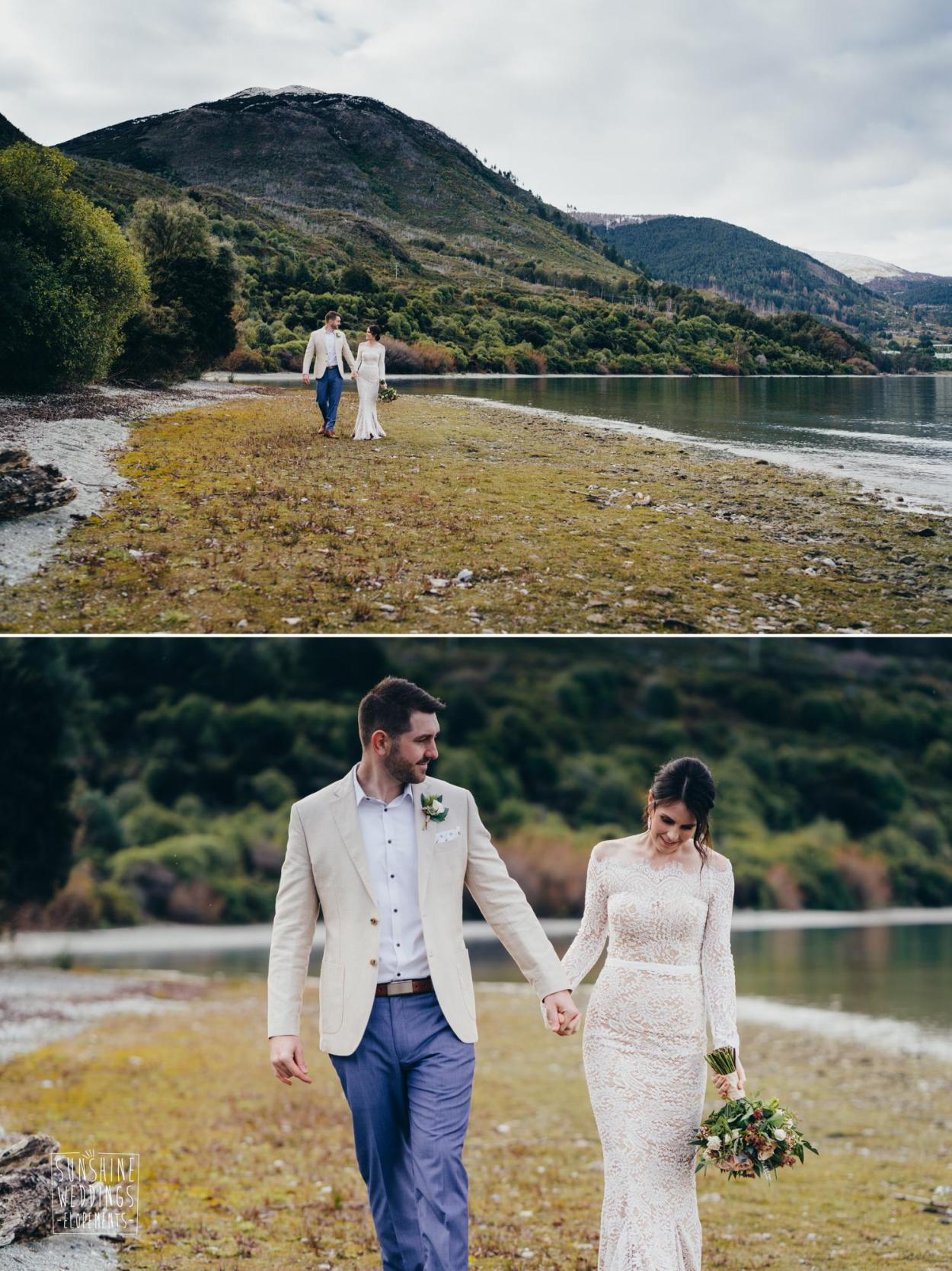 Lake wedding Queenstown