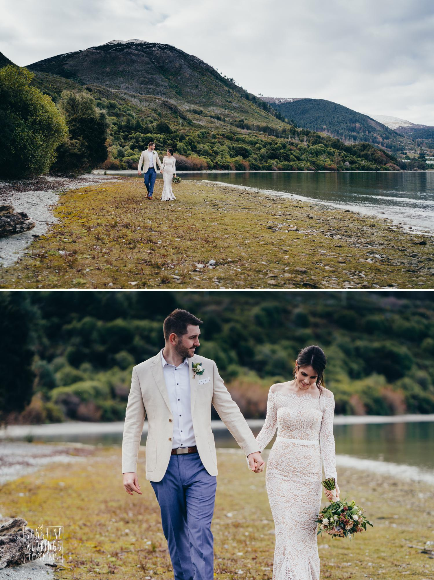 Lake wedding Queenstown