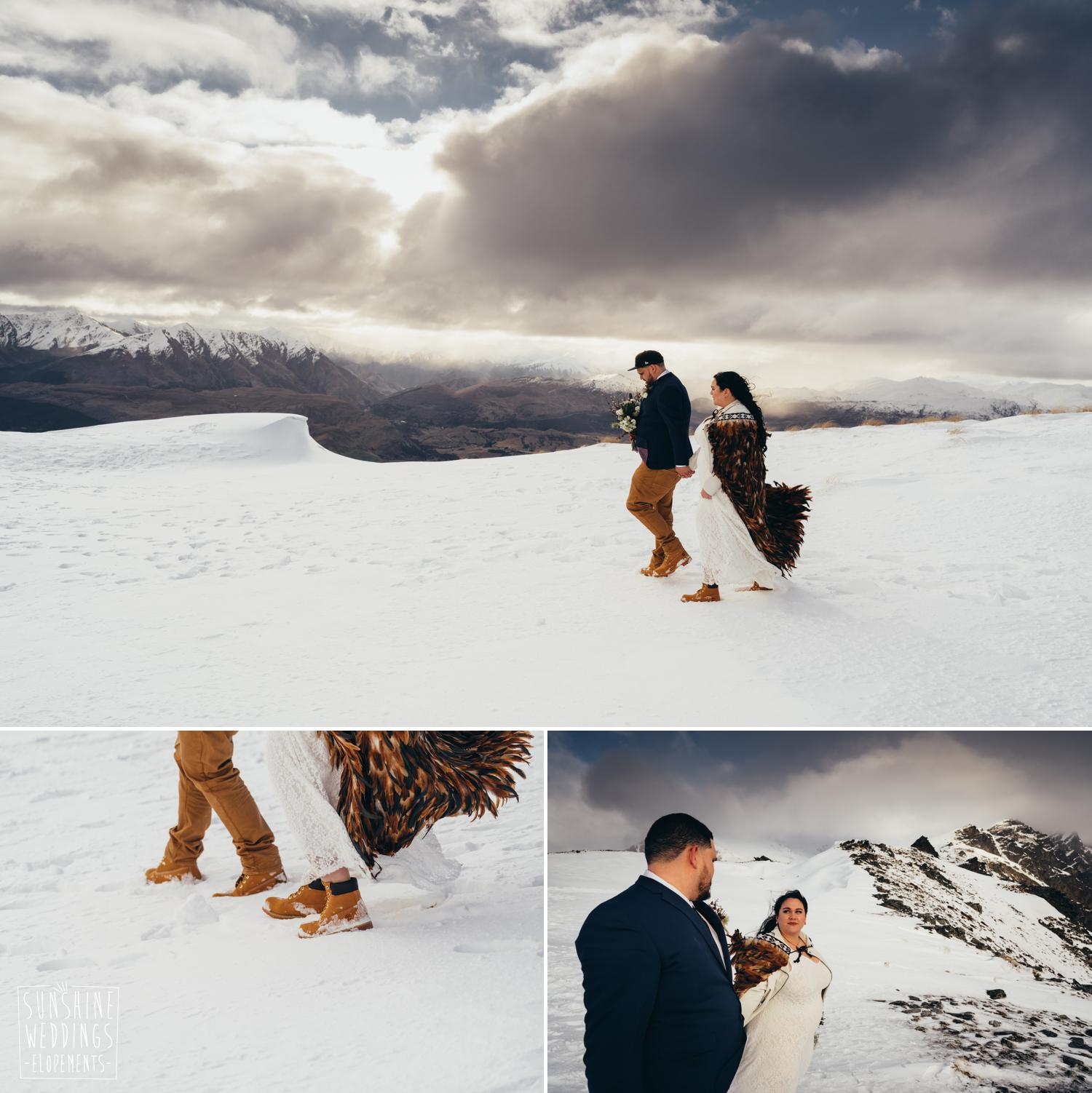 Winter wedding snow Queenstown