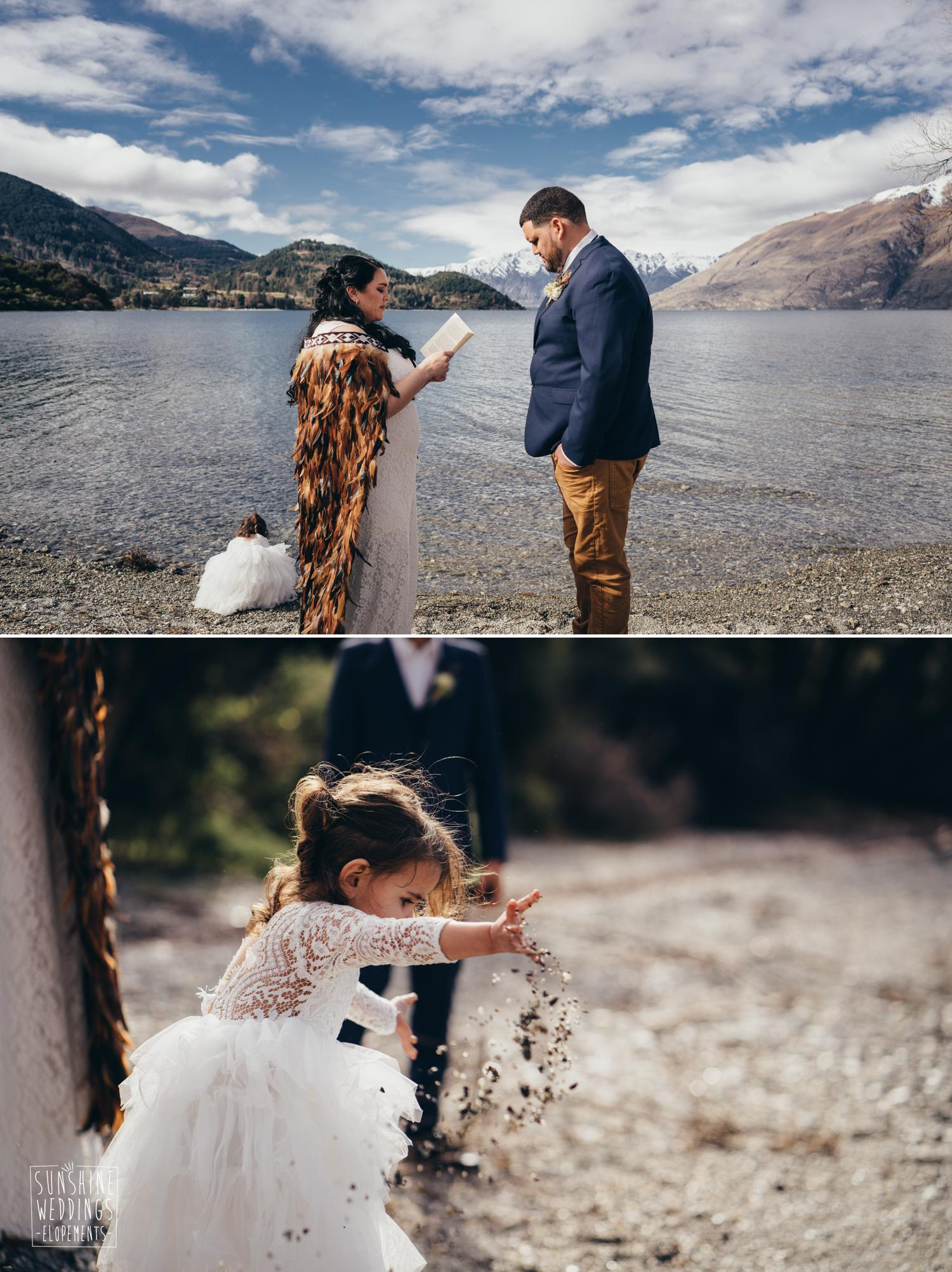 Wedding ceremony lake Wakatipu