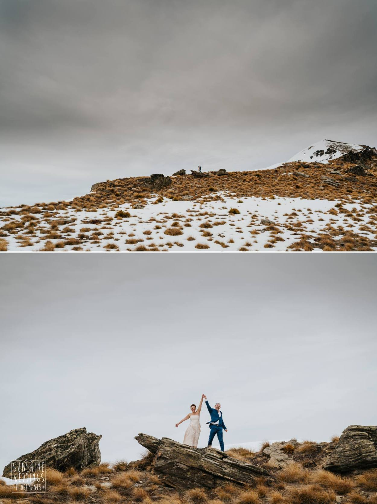 Cecil Peak winter wedding