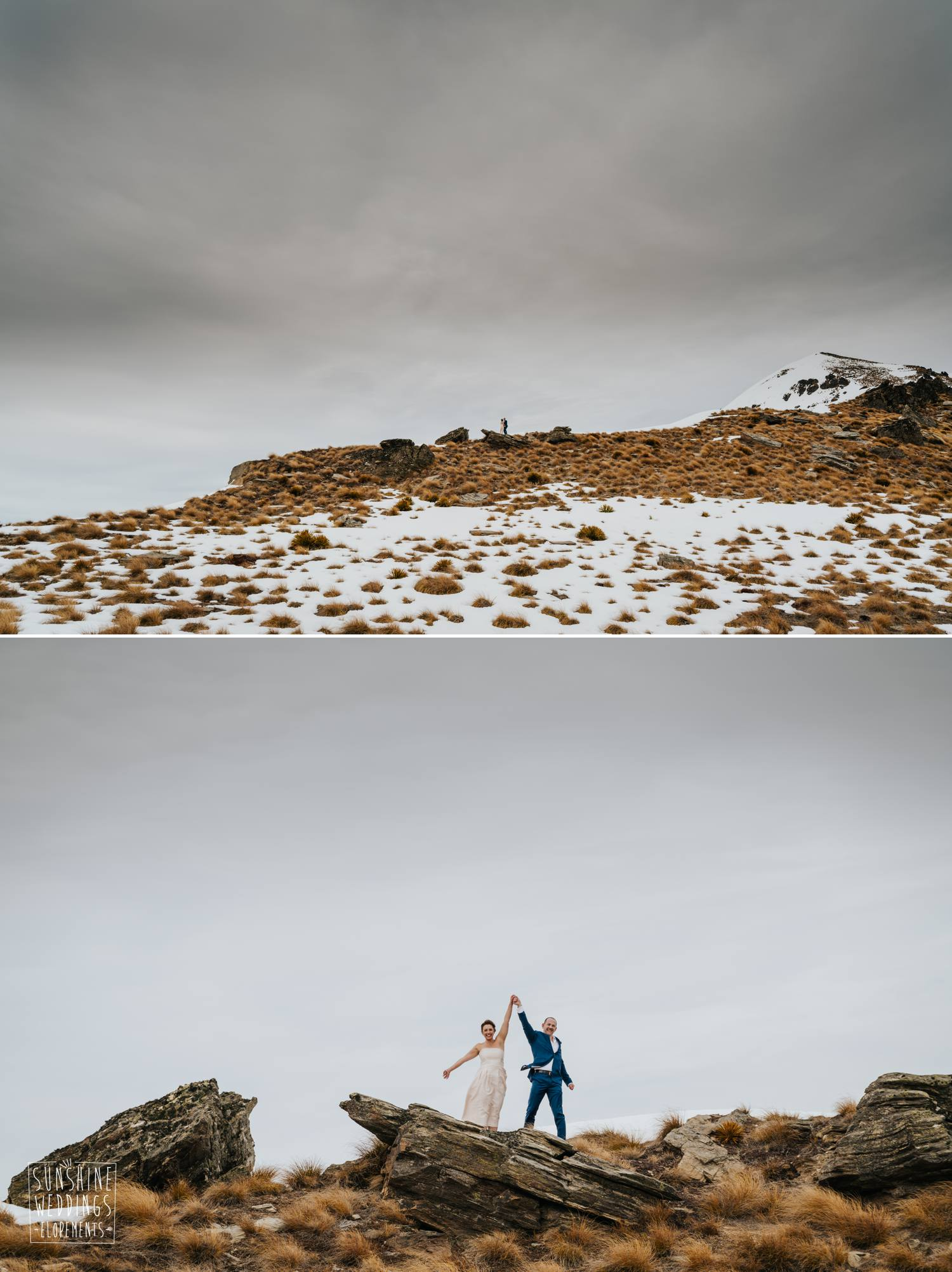 Cecil Peak winter wedding