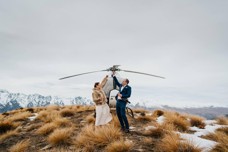 helicopter mountain wedding planner in Queenstown
