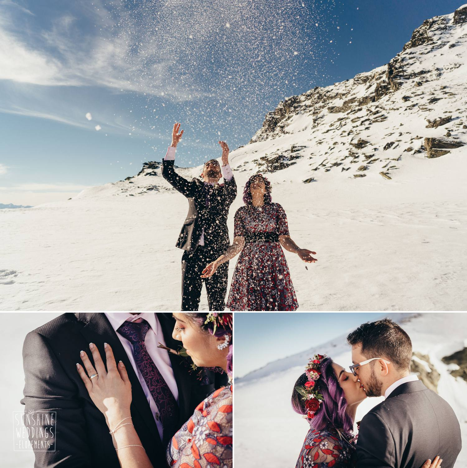 romantic mountain wedding new zealand