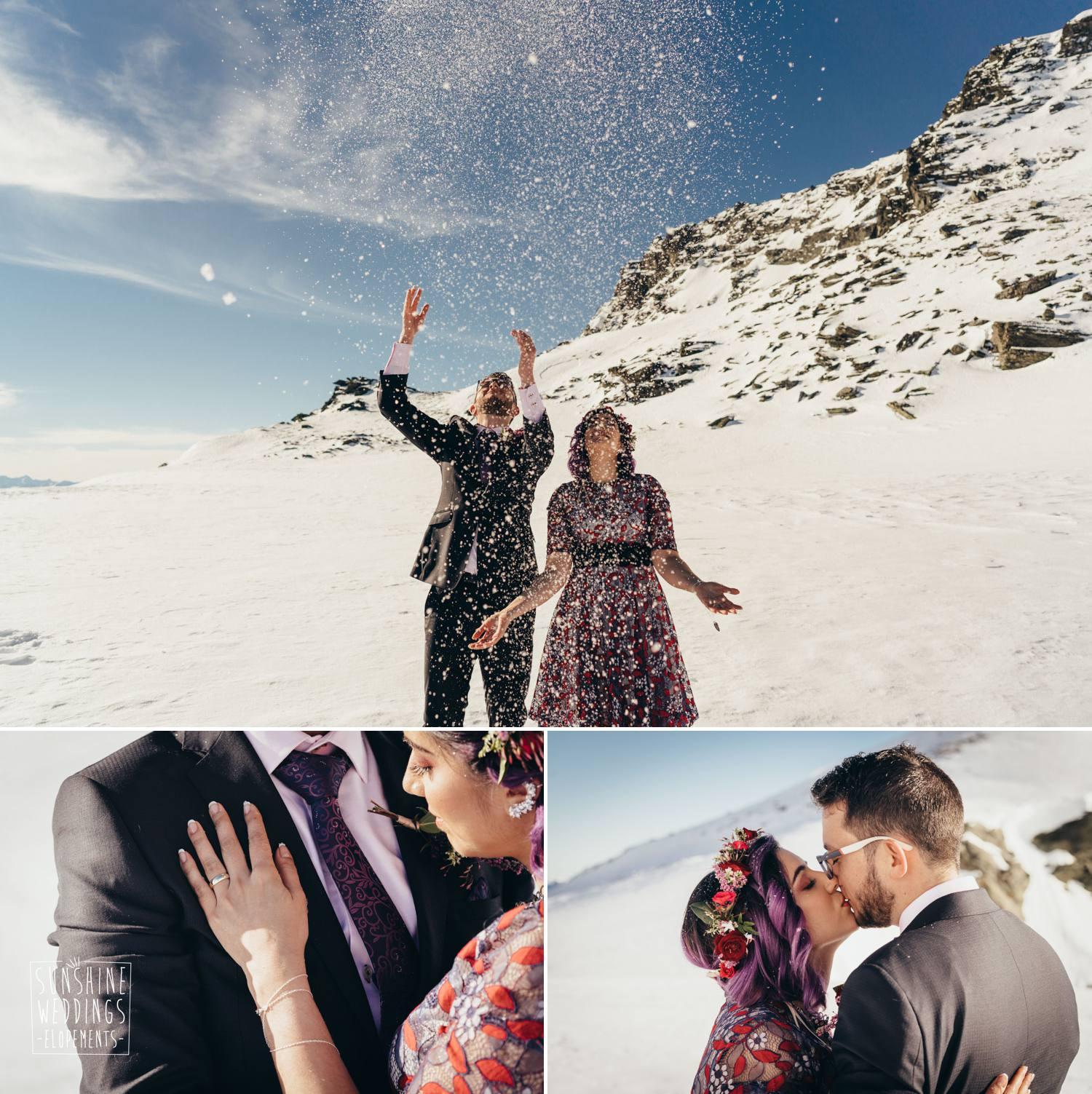 romantic mountain wedding new zealand